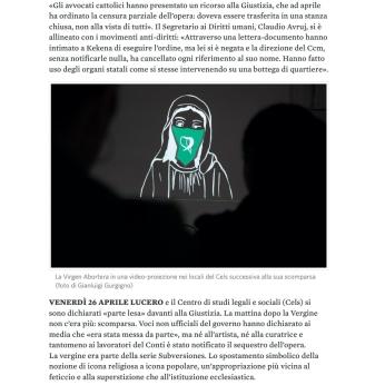 NO - 2019-05-22 In Argentina anche la «Vergine abortista» è desaparecida il manifesto-2